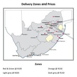 Courier rates and delivery areas